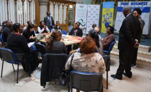 Getting ready to start Hulme Business Event …